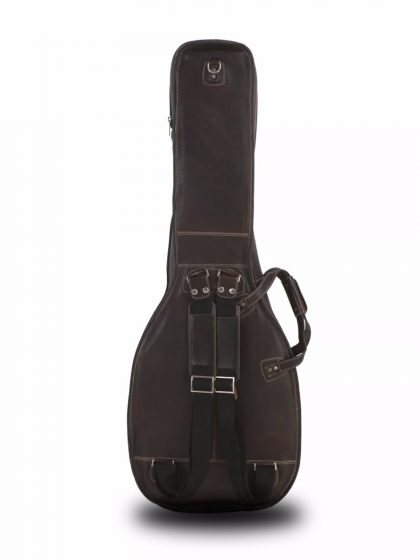 Acoustic Bass Guitar Gig Bag by Harvest Fine Leather, Cowhide Brown