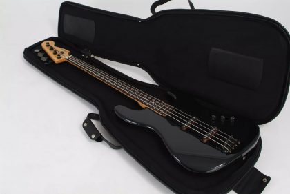 Leather Gig Bag Bass by Harvest Fine Leather, Napa Black