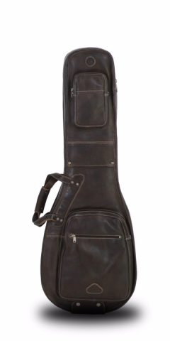 Les Paul Gig Bag by Harvest Fine Leather, Cowhide Brown