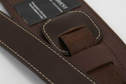 Leather Bass Strap by Harvest Fine Leather, Silverado Brown