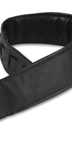 Long Leather Guitar Strap by Harvest Fine Leather, Black