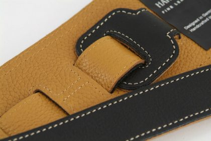 Black Leather Guitar Strap by Harvest Fine Leather