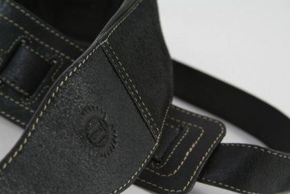Leather Bass Guitar Strap by Harvest Fine Leather, Black