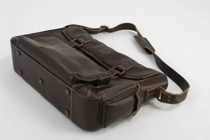 Leather Utility Bag by Harvest Fine Leather, Top Grain Cowhide Brown